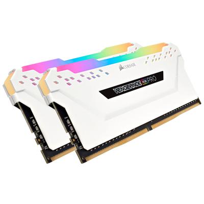 Corsair Vengeance 16GB (2 x 8GB) DDR4 DRAM 2666MHz C16 Memory Kit, White RAM-geheugen - Wit