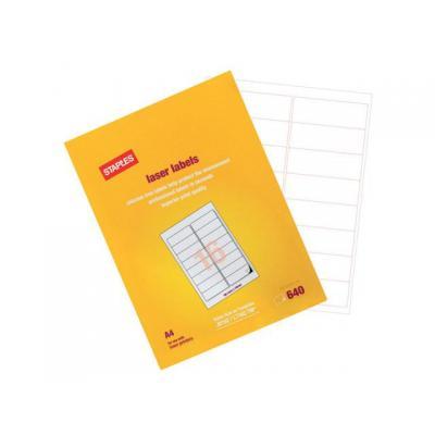 Staples etiket: Etiket SPLS L 64x34 wit/doos 2400