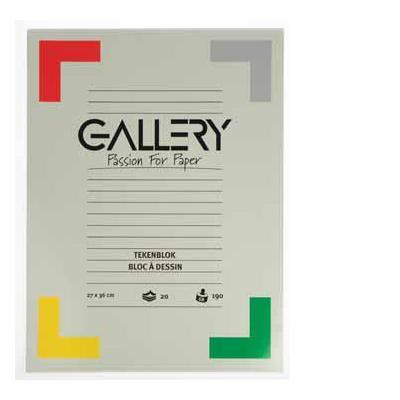 Gallery tekenpapier: TEKENBLOK 190GR 27 X 36 20BL.