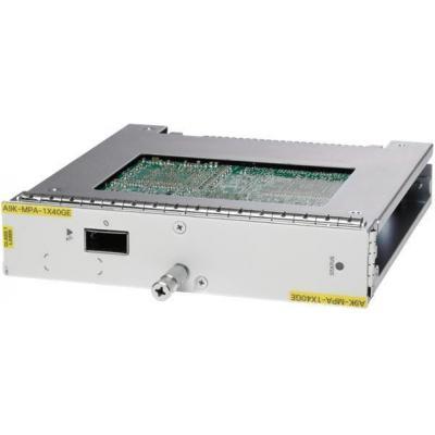 Cisco ASR 9000 1-port 40-Gigabit Ethernet Modular Port Adapter, requires QSFP optics netwerk switch module
