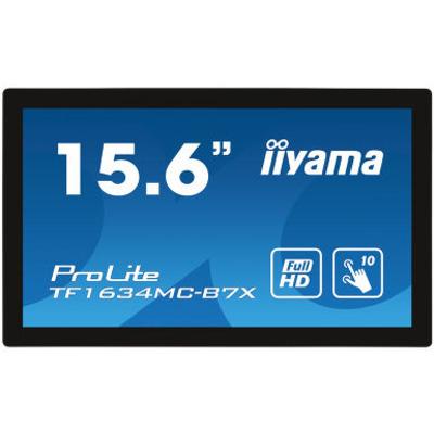 "Iiyama ProLite 15.6"", 1920x1080, 16:9, IPS, 25 ms, VGA, HDMI, DP, HDCP, IP65, 381x230.5x46 mm Touchscreen monitor ....."