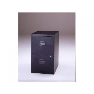 Bisley archiefkast: Ladenkast 2 x A-lade zwart