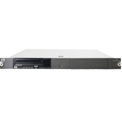Hewlett packard enterprise tape autoader: HP StoreEver LTO-3 Ultrium 920 SCSI in 1U Rack-mount Kit - Zwart