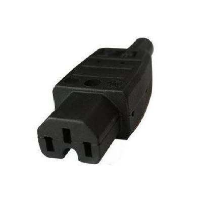 Microconnect IEC Power Adaptor C15 Plug stekker-adapter - Zwart