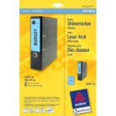 Avery Border Binder Labels, Blue 192 x 61mm (20) Etiket