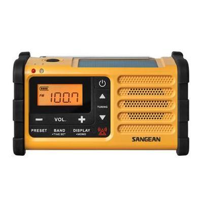Sangean radio: AM/FM, LCD, Solar Power, 392 g. - Zwart, Geel