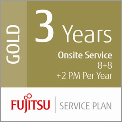 Fujitsu 3 Year Onsite Service, 8+8+2PM Garantie