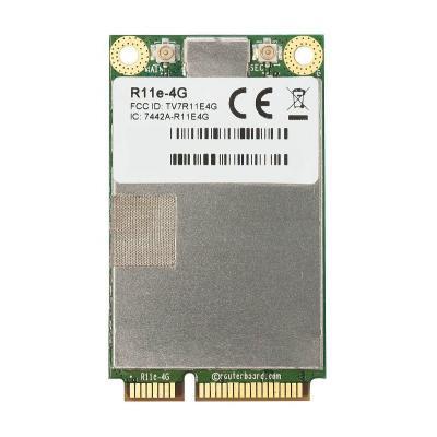 Mikrotik LTE miniPCI-e card for bands 3, 7, 20, 31, 41n, 42, 43 Netwerkkaart - Groen, Zilver