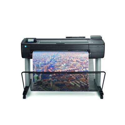 Hp grootformaat printer: Designjet T730 36-inch - Zwart, Cyaan, Magenta, Geel