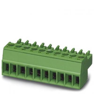Phoenix elektrische aansluitklem: Printed-circuit board connector - MC 1,5/ 8-ST-3,81, 8A, 160V, Green - Groen