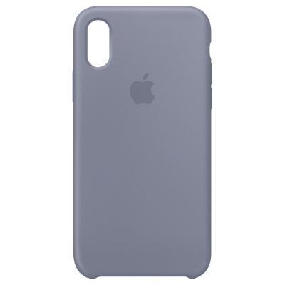 Apple mobile phone case: Siliconenhoesje voor iPhone XS - Lavendelgrijs