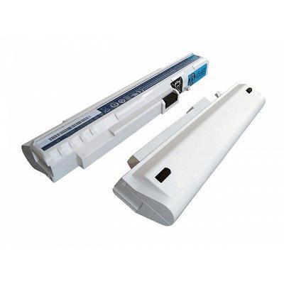 Acer batterij: Battery Li-Ion 6-Cell 5800mAh (white) - Wit