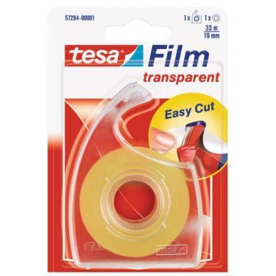 Tesa plakband: Transparant 19mmx33m