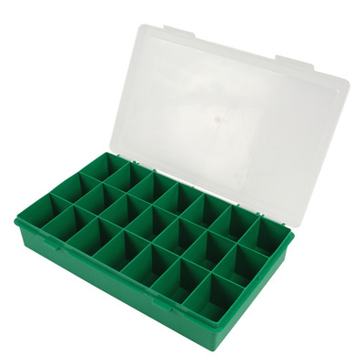 Tayg : Box w/ Fixed Distribution, Base Green, Cover Transparent - Groen, Transparant