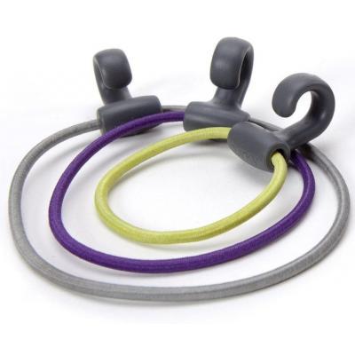 Quirky elastiek: Rubber Bands with Hooks 10 Pack - Multi kleuren