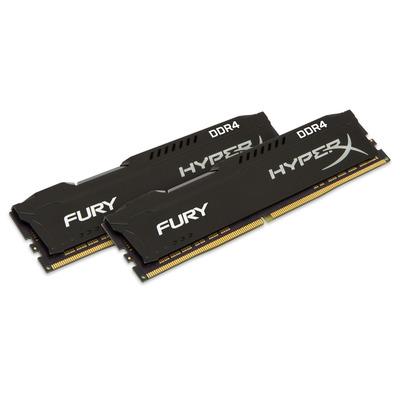 HyperX FURY Black 8GB DDR4 2400MHz Kit RAM-geheugen - Zwart
