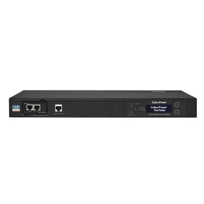CyberPower Switched ATS, C14 x 2, C13 x 12, RJ15, 1U Energiedistributie - Zwart