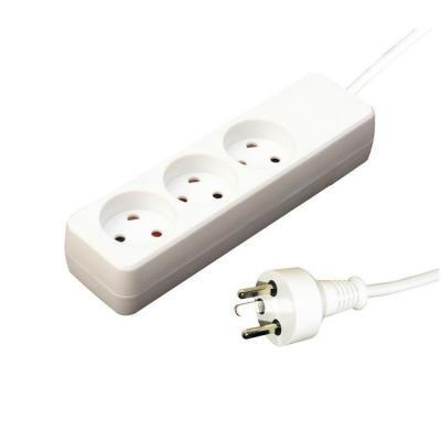 Garbot Plast Power Strip 3-way K outlet, White, 10 m Power Cord, K-IT plug Stekkerdoos - Wit