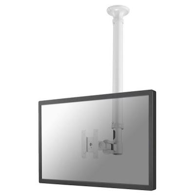 "Newstar flat panel plafond steun: TV/Monitor Ceiling Mount for 10""-30"" Screen, Height Adjustable - White - Wit"
