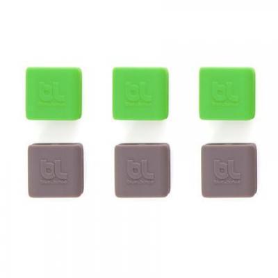 Bluelounge kabelklem: CableClip Small - Groen, Grijs
