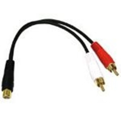 C2G Value Series RCA Jack to RCA Plug x2 Y-Cable - Zwart