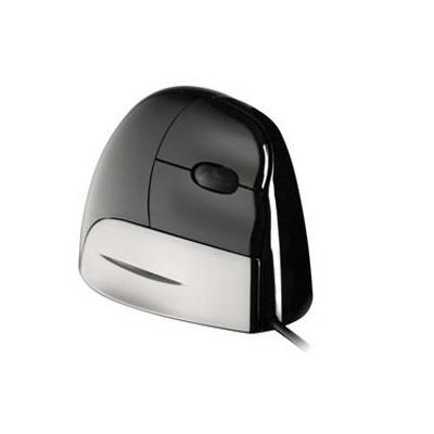 Evoluent VerticalMouse Standard USB - Rechtshandig Computermuis - Zwart, Zilver
