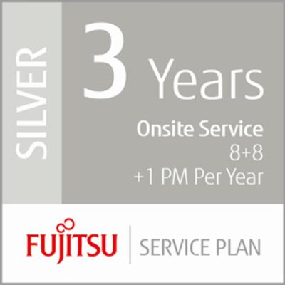 Fujitsu 3 Years Onsite Service, 8+8+1PM Garantie