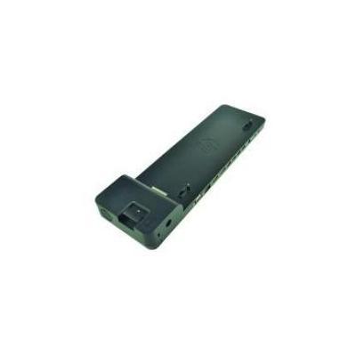 2-power docking station: Ultraslim Docking Station - Ethernet LAN, 4x USB 3.0, 2x DP, VGA, Power cable, 760g - Zwart