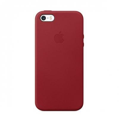 Apple mobile phone case: Leren hoesje voor iPhone SE - (PRODUCT)RED - Rood