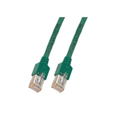 EFB Elektronik RJ45 Patch cable SF/UTP, Cat.5e, TM11, UC300, 7,5m, green Netwerkkabel - Groen