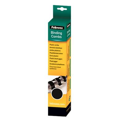 Fellowes Plastic bindrug 14mm Ringband - Zwart