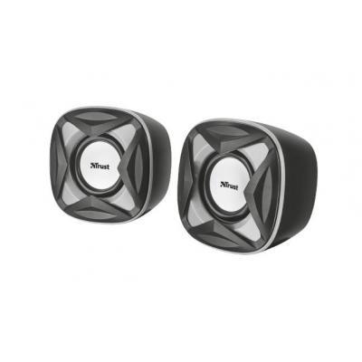 Trust Speaker: Xilo Compact 2.0 - Zwart, Grijs