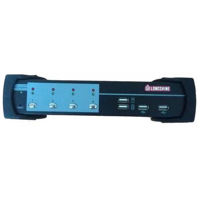 Longshine LCS-K704D KVM switch - Zwart