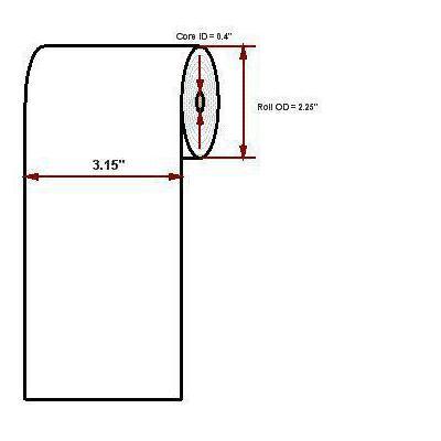 "Datamax o'neil thermal papier: Premium 3.15"" x 125'"