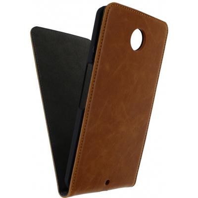 Mobilize Magnet Flip Case voor Motorola Google Nexus 6 - Bruin Mobile phone case