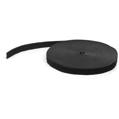StarTech.com Klittenband 15 m rol zwart Kabelbinder