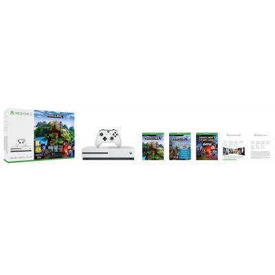 Microsoft spelcomputer: Xbox One S, Console 500GB + Minecraft + 3 Maanden LIVE