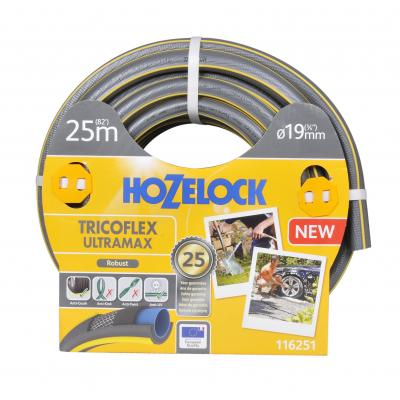 Hozelock tuinslang: Tricoflex Ultramax slang Ø 19 mm 25 meter - Grijs, Geel