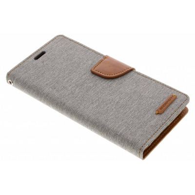 Canvas Diary Booktype Samsung Galaxy S9 Plus - Grijs / Grey Mobile phone case