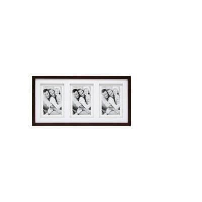 Deknudt fotolijst: S65KQ3 3 x 15x20 - wood, Brown - Bruin