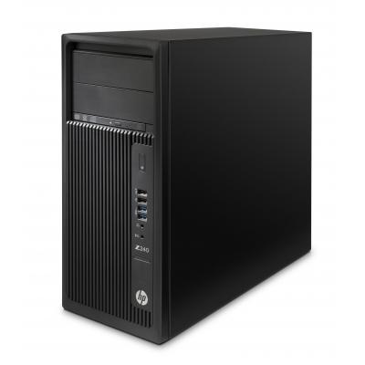 Hp pc: Z Workstation bundel: Z240 MT + AMD FirePro W5100 + 2TB HDD - Zwart