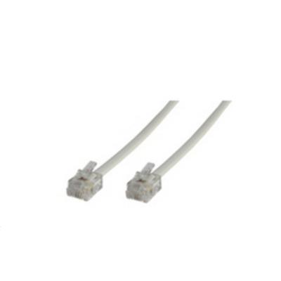 Microconnect telefoon kabel: RJ12, 6C/6P, 3m - Wit