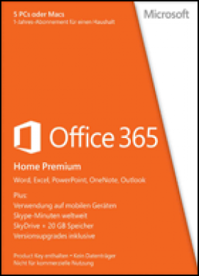 Microsoft planningsysteem: Office 365 Home Premium - Subscription 1 year (download versie)