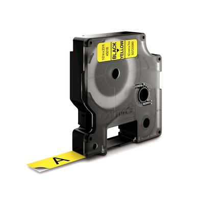 DYMO D1 -Standard Labels - Black on Yellow - 12mm x 7m Labelprinter tape