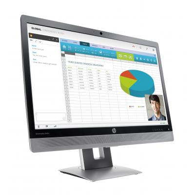 HP monitor: EliteDisplay E240c - Zwart, Zilver (Demo model)