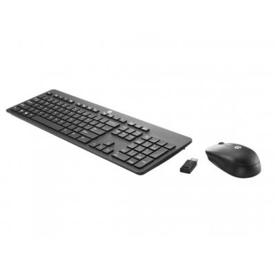 HP Wireless Business Slim Keyboard and Mouse (Bundelverpakking 12 stuks) Toetsenbord - Zwart