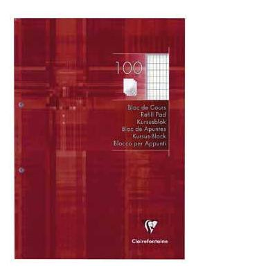 Clairefontaine schrijfblok: CURSUSBL A4 200BL C CLAIRE 2GA