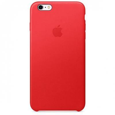 Apple mobile phone case: Leren hoesje voor iPhone 6s Plus - Rood