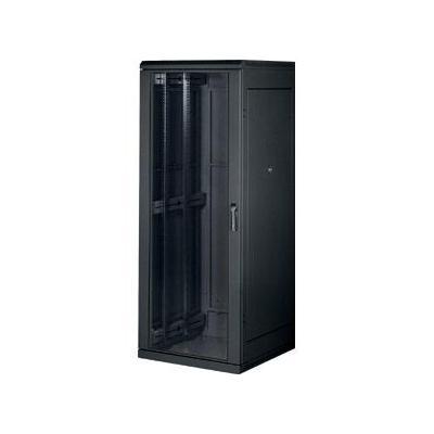 Equip rack: 19'' Network cabinet DELTA S, Perforated front door, 74% air passage, 42U, Black - Zwart