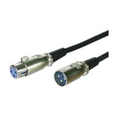 Microconnect XLR M-F, 2m, 3-pol, Black - Zwart